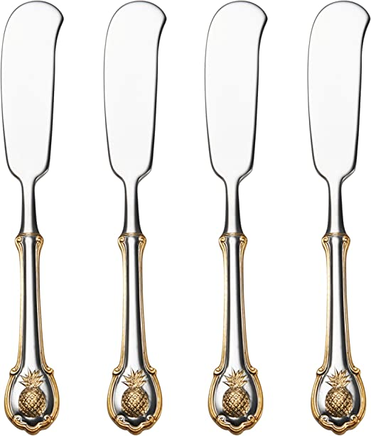 Vababa 8-Piece Black Stainless Steel Long Handle Spoon Mirror Finish