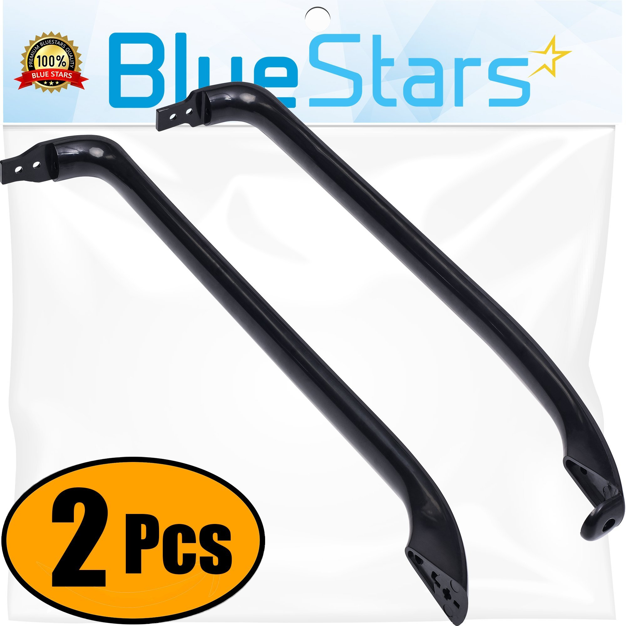 Ultra Durable WR12X22183 Door Handle Kit Replacement by Blue Stars – Exact Fit For General Electric Refrigerators - Replaces WR12X11008 WR12X11009
