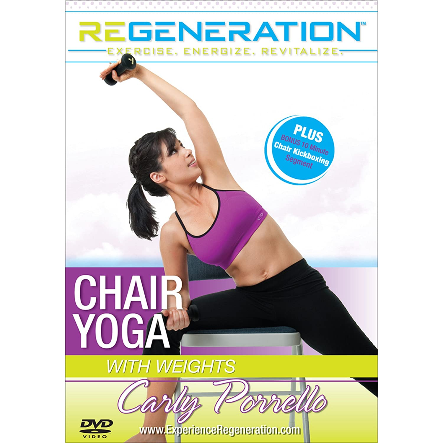 Amazon.com: Carly Porrellos Regeneration: Chair Yoga: Carly ...