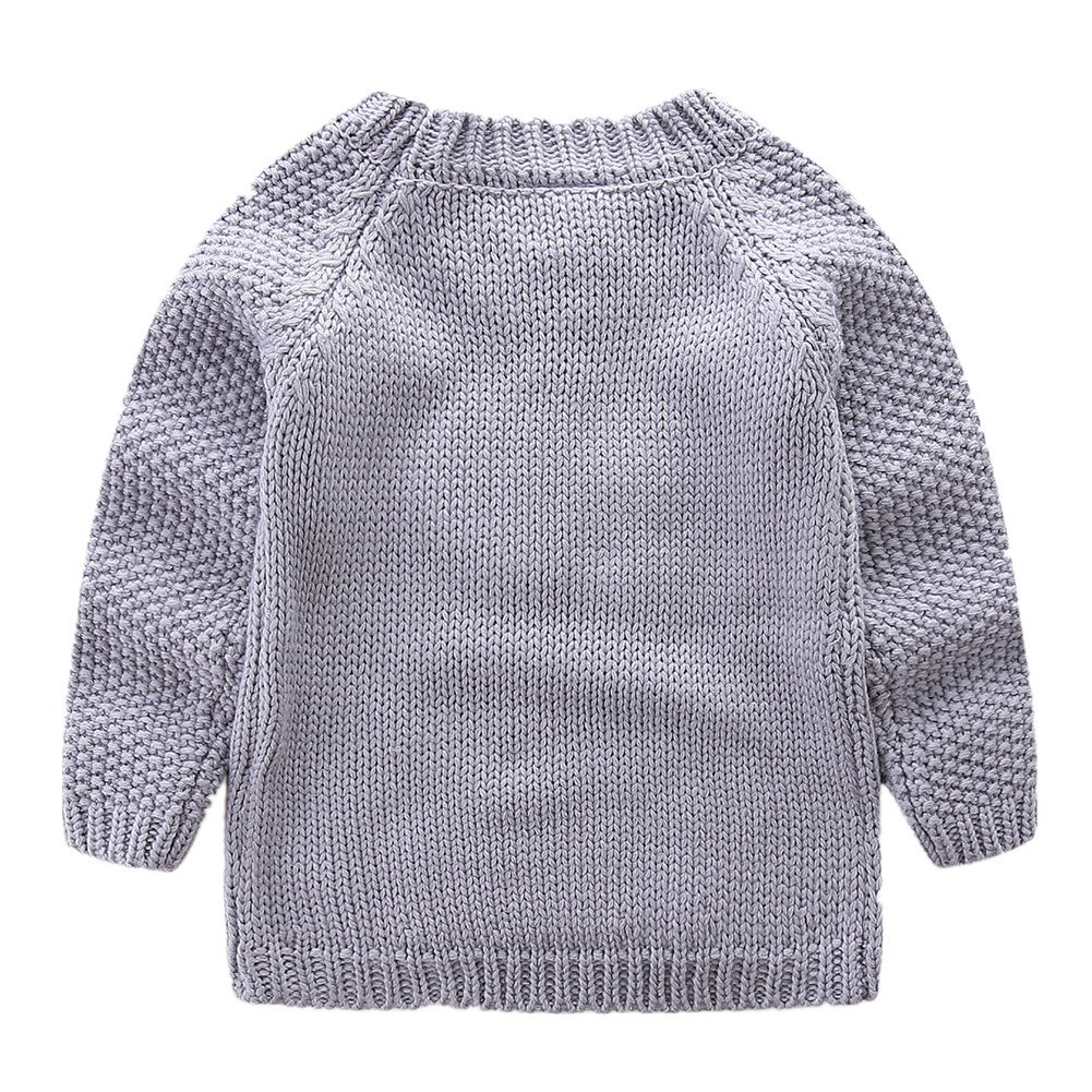 LittleSpring Little Girls' Sweater Long Sleeve Size 2T Grey by LittleSpring (Image #2)