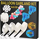 JOYEZA Balloon Arch Kit Garland Strip Decorating Strip Kit - 32ft Tape Strips 200 Glue Dots, 60ft Ribbons & more - 100…