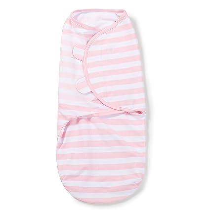 SwaddleMe-Original Pucksack, groß (4-6 Monate), rosa und weiße Streifen (1er Pack)