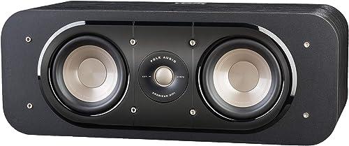 Polk Audio Signature Series S30 Center Channel Speaker 2 Drivers Surround Sound Power Port Technology Detachable Magnetic Grille,Black