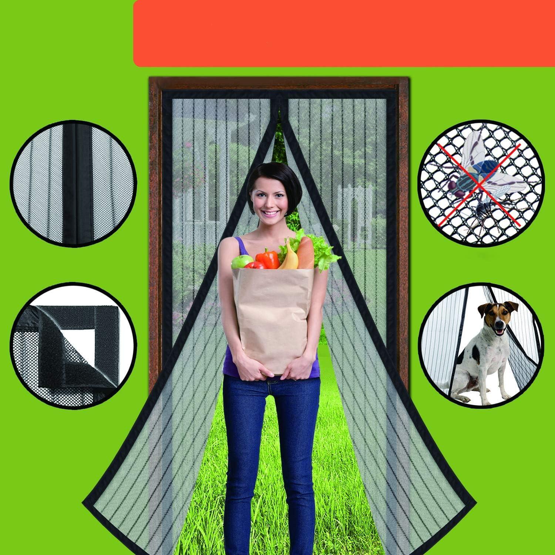 Homearda Magnetic Screen Door - Full Frame, Fits Door Up To 34x82 Inch