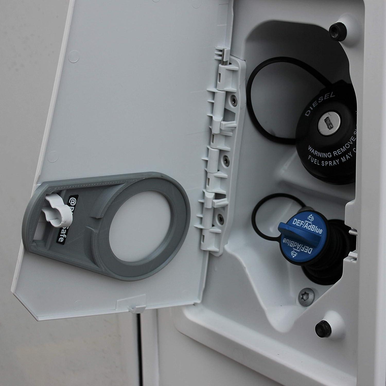 AdBlue Deckel Sicherung Tanksicherung f/ür Tankverschluss Tankdeckel Typ Tankklappe Wohnmobil, AdBlueSafe Neon Gelb