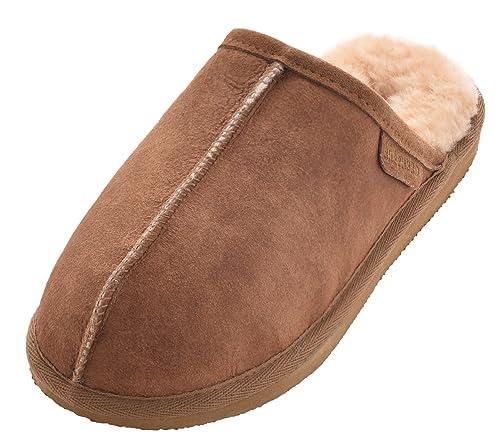 3c8ce097 Shepherd - Zapatillas de estar por casa de Piel para hombre, color ...