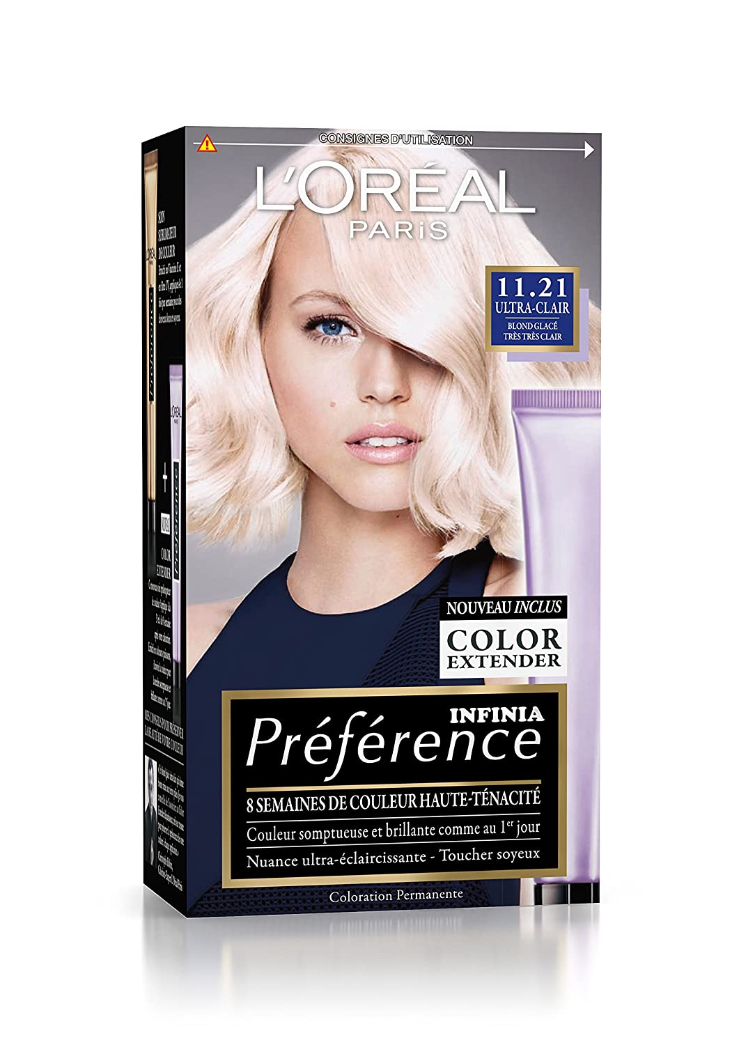 prfrence loral paris coloration permanente 1121 blond glac - Coloration Blond Platine