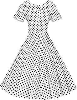 309c53aea1 GownTown Women's 1950s Polka Dot Vintage Dresses Audrey Hepburn Style Party  Dresses