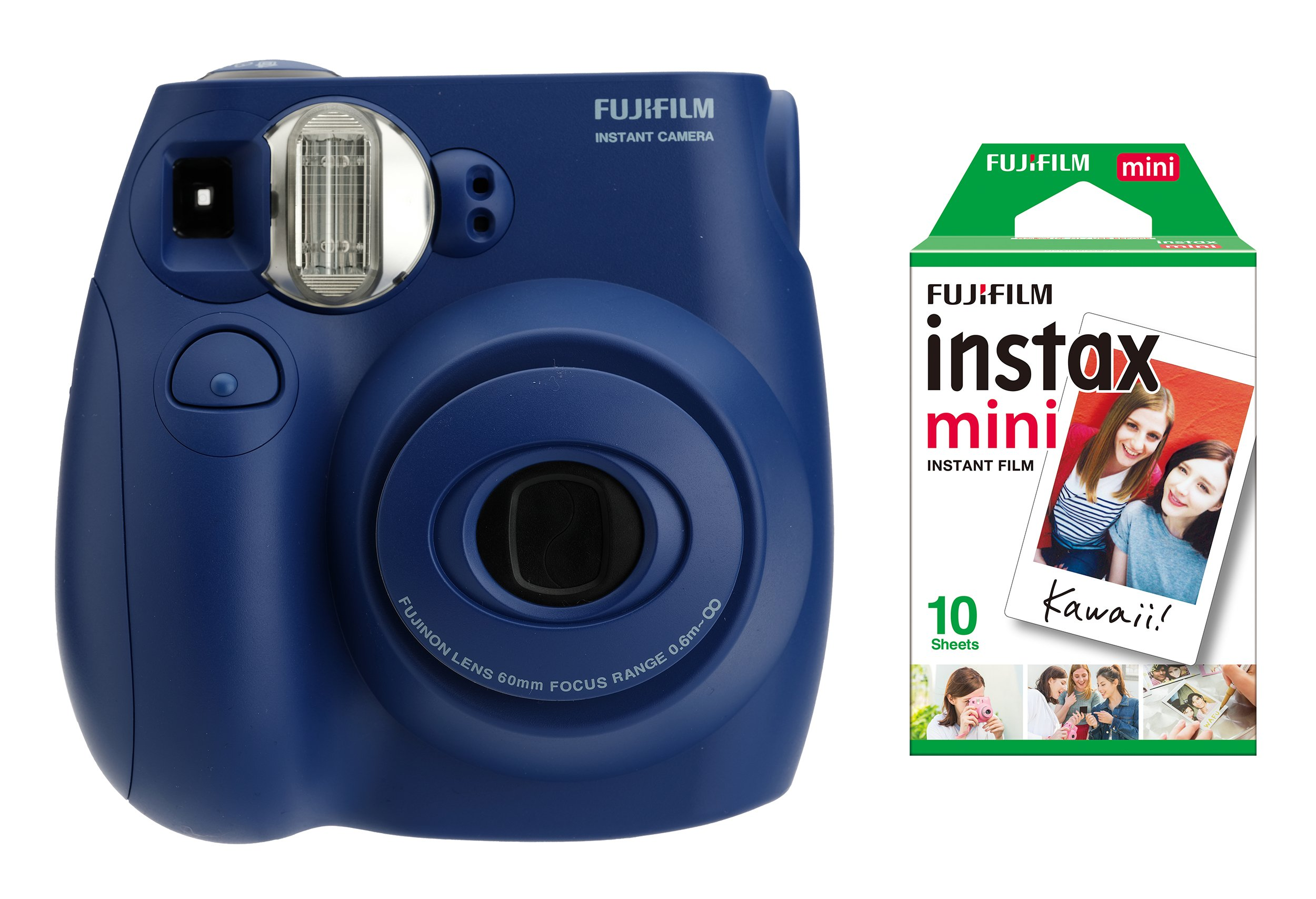 Fujifilm Instax Mini 7s Indigo + 10 Exposures Instant Film Camera by Fujifilm