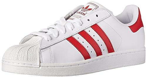 adidas - Zapatillas de Running de Piel para Hombre Blanco Blanco, Color Blanco, Talla 4,5 D(M) US: Amazon.es: Zapatos y complementos