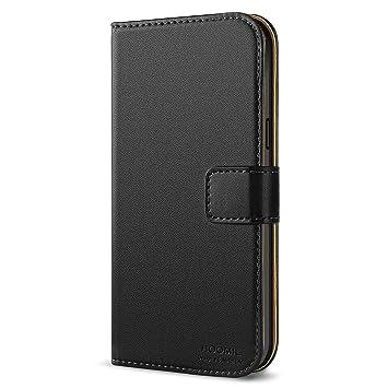 HOOMIL Funda Samsung Galaxy S5 Mini, Cuero Premium Fundas para Samsung S5 Mini Carcasa Case (H3010, Negro)
