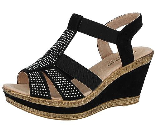 Femme Pour D été Walk Sandales Doublure Cushion Cuir Chaussures fqIPpgnn e1a6952d182