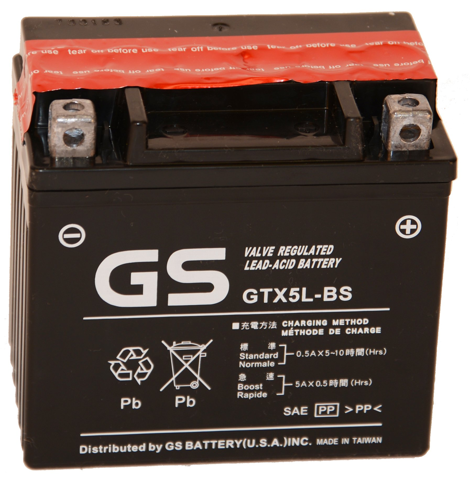 GTX5L-BS OE Quality with Acid Pack by GS BATTERY, a subsidiary of GS YUASA; The World's Leading Manufacturer of Powersports Batteries