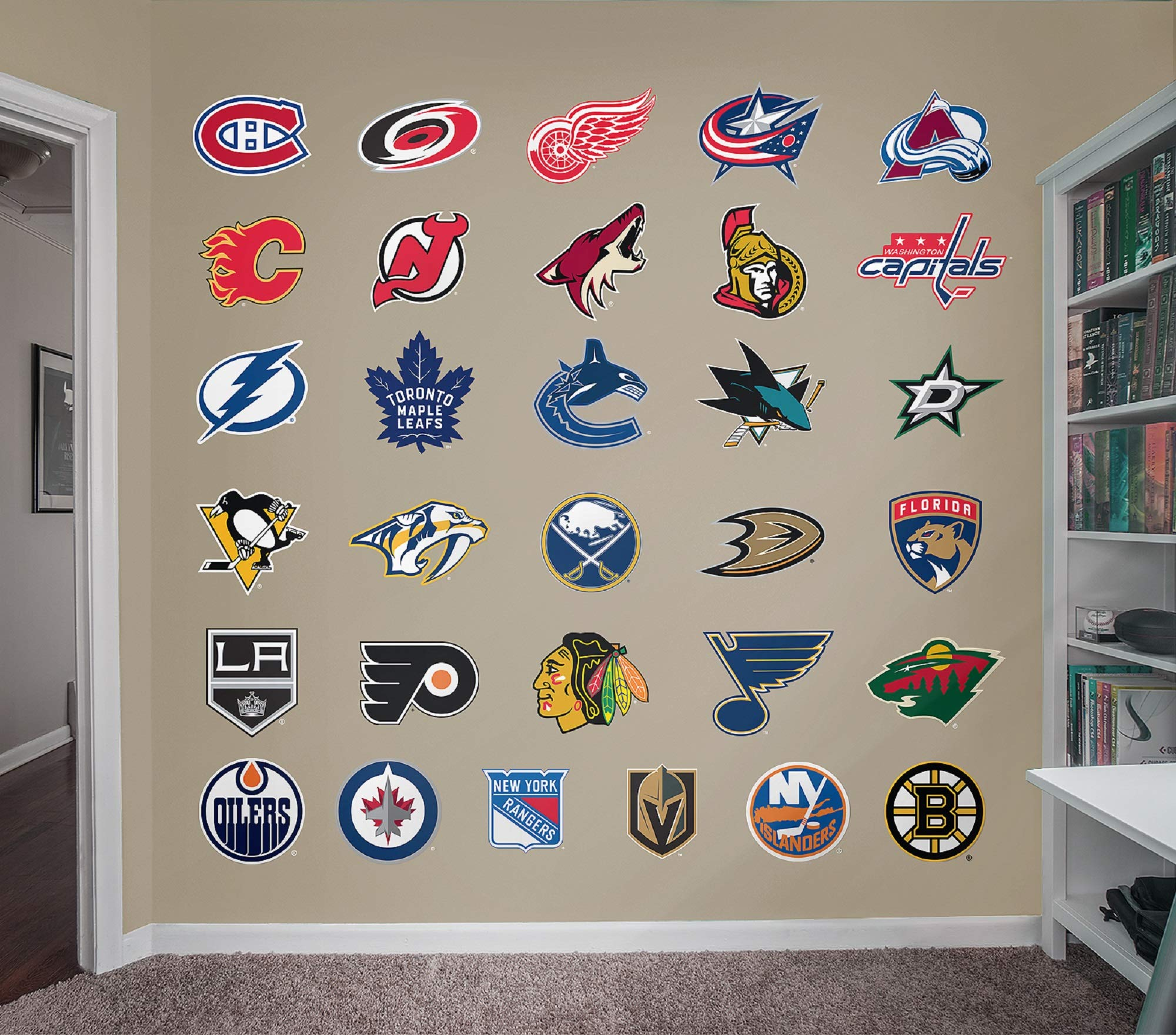 Fathead NHL - Logo Collection- Officially Licensed Removable Wall Decal, Multicolor, Giant - 64-64557 by FATHEAD