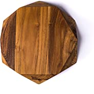 Edge of Belgravia Teak Star Wood Cutting Board Large