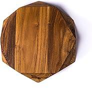 Edge of Belgravia Teak Star Wood Cutting Board Large