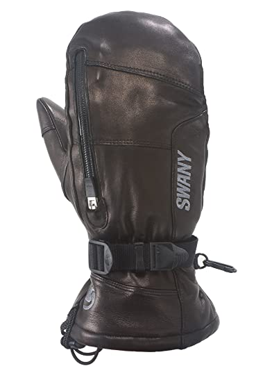 mittens leather thermolite gloves small swany black snowboarding ski toaster ladies