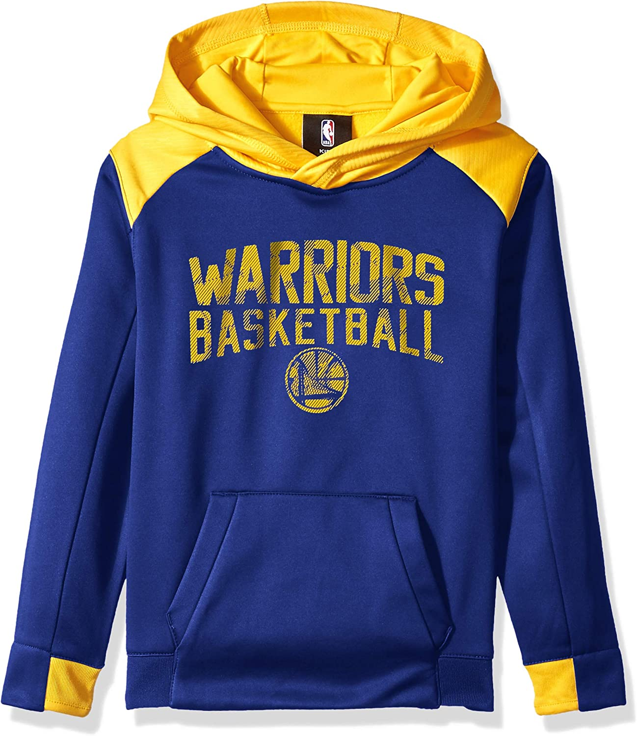 Kids Medium Blue NBA by Outerstuff NBA Kids /& Youth Boys Golden State Warriors Off the Court Performance Pullover Hoodie 5-6