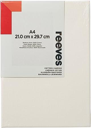 Reeves - Lienzo de algodón A4 - Blanco: Amazon.es: Hogar