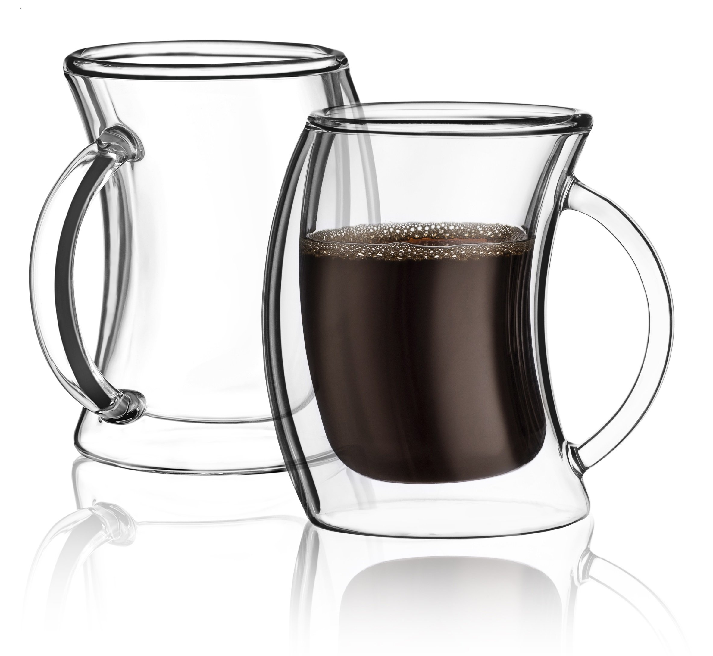 JoyJolt Caleo Double Wall Insulated glasses Espresso Cups Set of 2, 5.4-Ounces