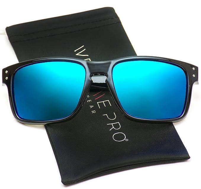 WearMe Pro - Gafas de sol prémium estilo Wayfarer clásico, con lentes reflectantes polarizadas