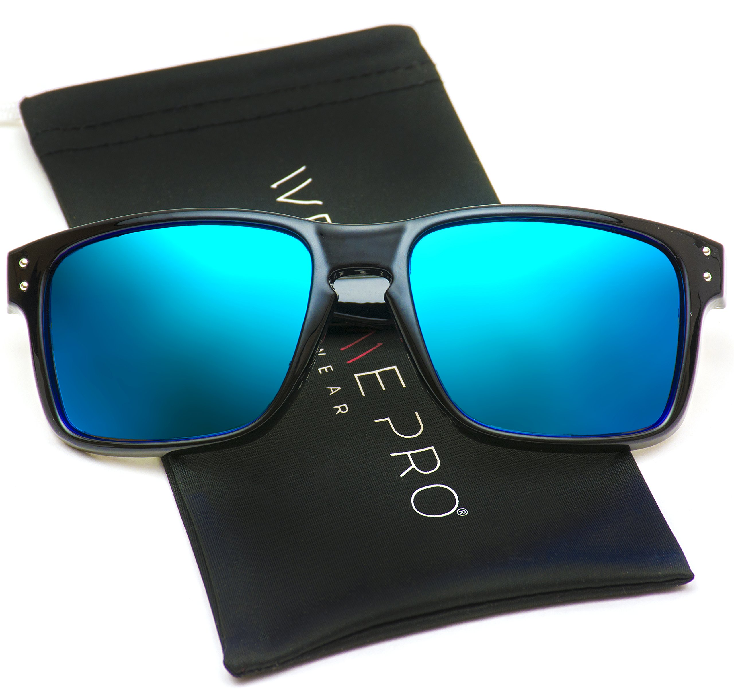 WearMe Pro - Premium Polarized Mirror Lens Classic Wayfarer Style Sunglasses