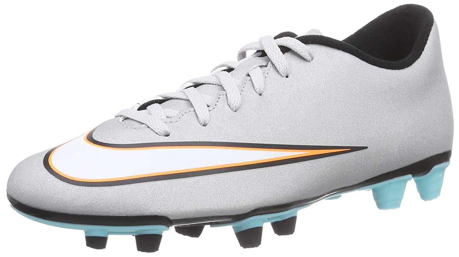 Amazoncom  Nike Mercurial Vortex Ii Cr Fg Mens Football Boots 684843  Soccer Cleats uk 11 us 12 eu 46 metallic silver black hype turquoise blue  003
