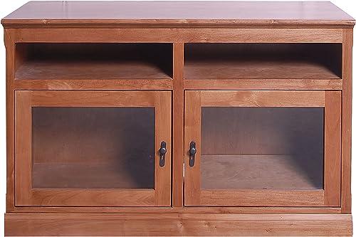 Forest Designs Mission TV Stand, 18 Depth x 48 Width x 30 Height, Ebony Oak