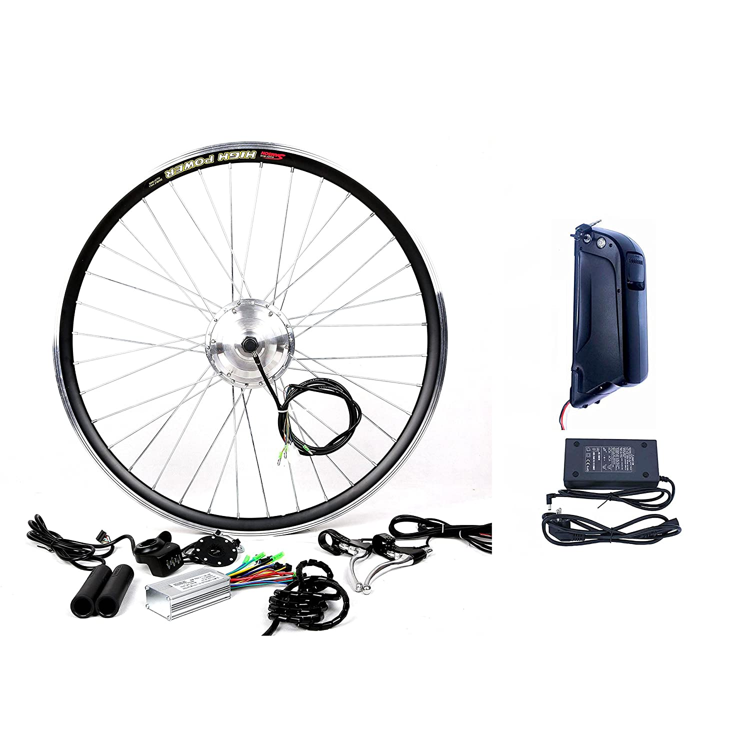 LCD Display Tire theebikemotor 48V1500W Hub Motor Electric Bike Conversion Kit Sine-Wave Controller