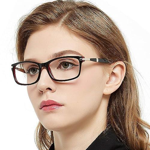 b7d521662e OCCI CHIARI Women Eyewear Frames Fashion Optical Acetate Eyeglasses with  Clear Lenses (A-Black