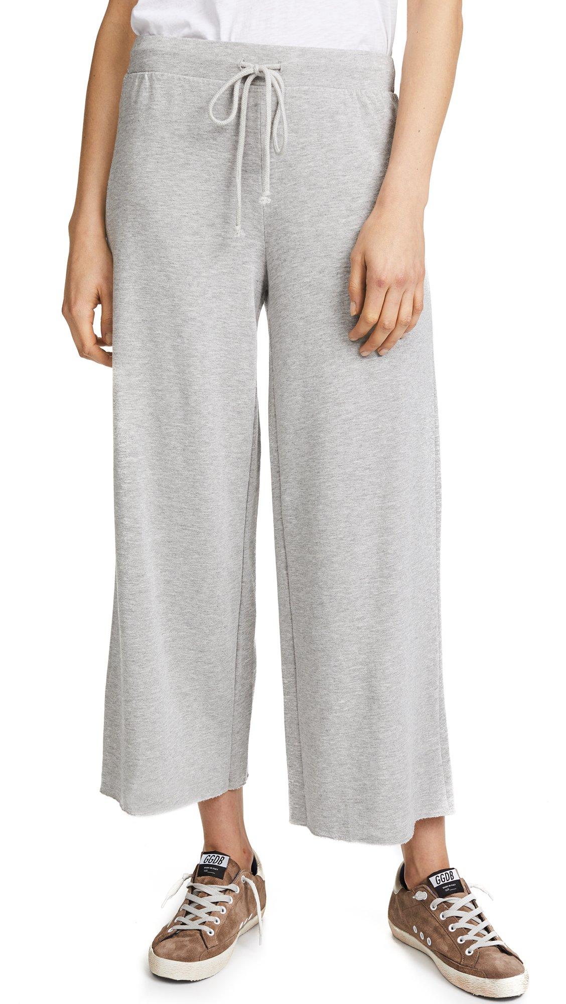 VELVET BY GRAHAM & SPENCER Women's Avalyn Soft Fleece Wide Leg Pant, Heather Grey, XS