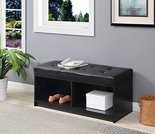 Convenience Concepts Designs4Comfort Broadmoor Storage Ottoman, Black