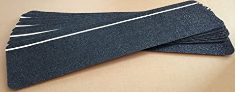 Safe Way Traction 6u0026quot; X 24u0026quot; Black Anti Slip Stair Tread Non Skid (