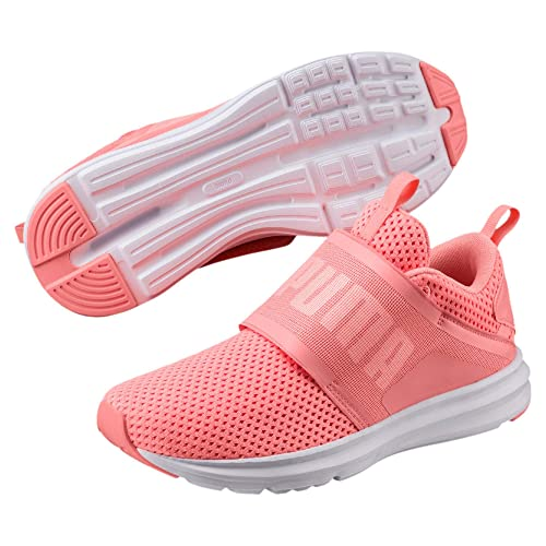 256c6f40a3b1 Puma Women s Enzo Strap Mesh WN s Soft Fluo Peach and White Running Shoes-7.5  UK