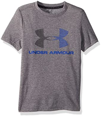 ac0eff31cde Threadborne Tech Q2 Boy s Short-Sleeve Shirt  Amazon.co.uk  Sports ...