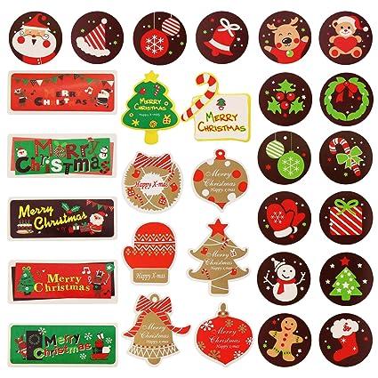 amazon com faylapa 184 pcs christmas sticker xmas elements self