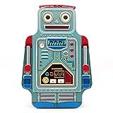 Suck UK ROBOT LUNCH BOX   TIN   TOY STORAGE   BEDROOM DECOR & ORGANIZATION  , 9.6 x 3.3 x 6.4 in, Multicolored