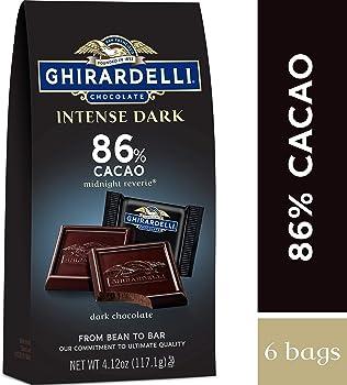 6-Pack Ghirardelli Intense Square Dark Chocolate 4.12 Oz