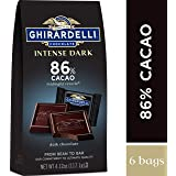 Ghirardelli Chocolate Intense Dark Squares, Midnight Reverie, 4.12 oz, (Pack of 4)