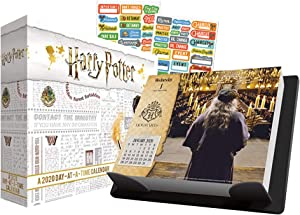 Harry Potter 2020 Calendar, Box Edition Set -- Bundle Includes Deluxe 2020 Harry Potter Day-at-a-Time Box Calendar with Over 100 Calendar Stickers (Harry Potter Giftss, Office Supplies)