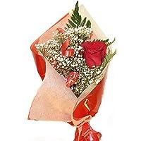 Rosa roja natural a domicilio con envio y nota dedicatoria incluido