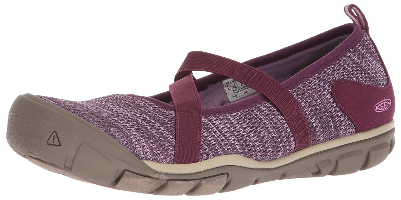 KEEN Women's Hush Knit MJ-W Hiking Shoe B071R4Z17T 6.5 B(M) US|Grape Wine/Lavender Herb