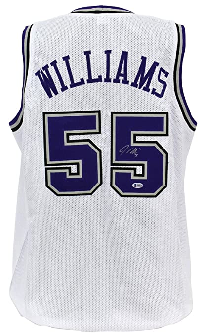 save off 04ae4 a570d Jason Williams (NFL) Autographed Jersey - Kings White BAS ...