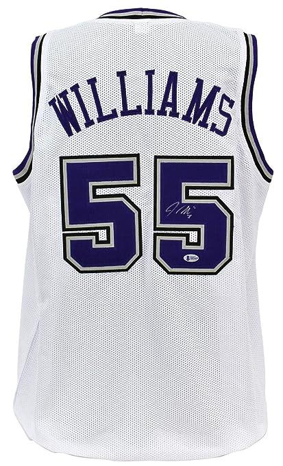 save off ca303 3387e Jason Williams (NFL) Autographed Jersey - Kings White BAS ...
