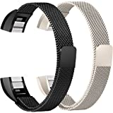 For Fitbit Alta HR and Alta Bands Pack of 2, bayite Replacement Milanese Loop Stainless Steel Metal Bands Small Large