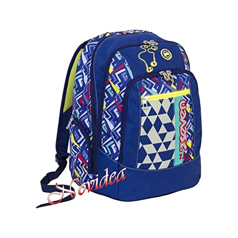 00f592af64 ZAINO SCUOLA ERGONOMICO SEVEN ADVANCED WIDGET Blu Giallo: Amazon.it ...