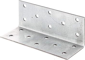 Gro/ßpack sendzimirverzinkt 90 x 90 x 40 mm // 6 St/ück GAH-Alberts 332914 Winkelverbinder
