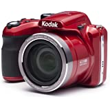 """Kodak PIXPRO Astro Zoom AZ421-RD 16MP Digital Camera with 42X Optical Zoom and 3"""" LCD Screen (Red)"""