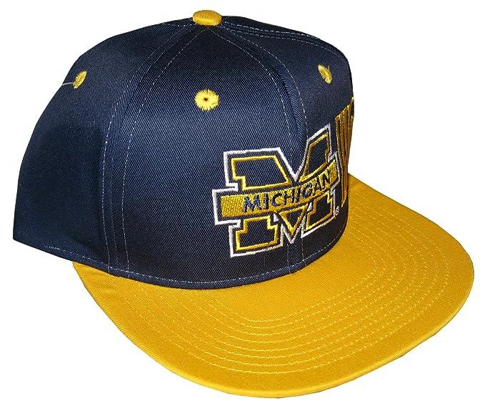 Drew Pearson Men s Vintage Snapback Cap Nos Michigan Wolverines Adjustable  22.05 Inch - 23.62 Inch Dark 288d2c5a2064