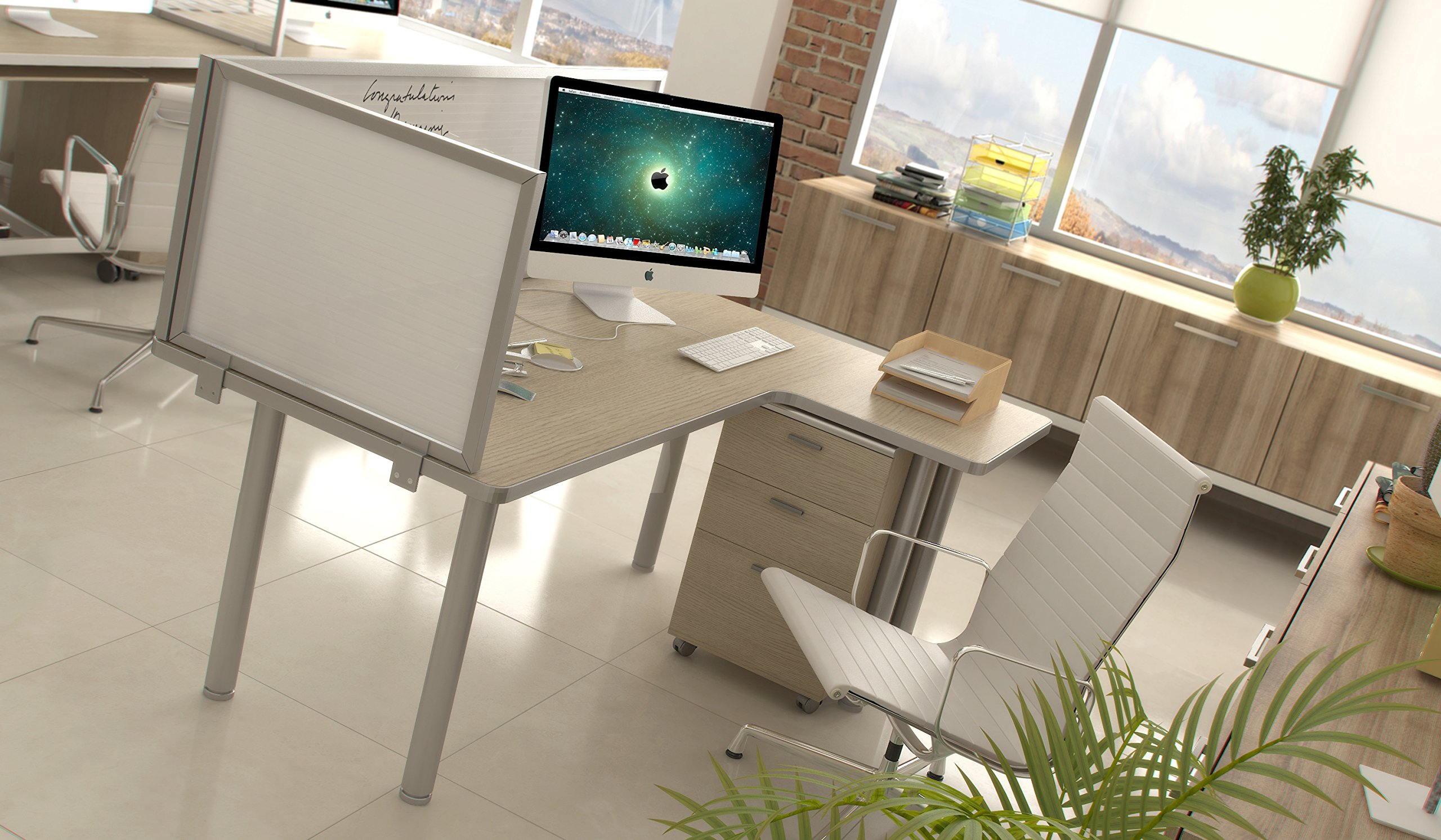 24'' Polycarbonate Desk Mounted Privacy Panel